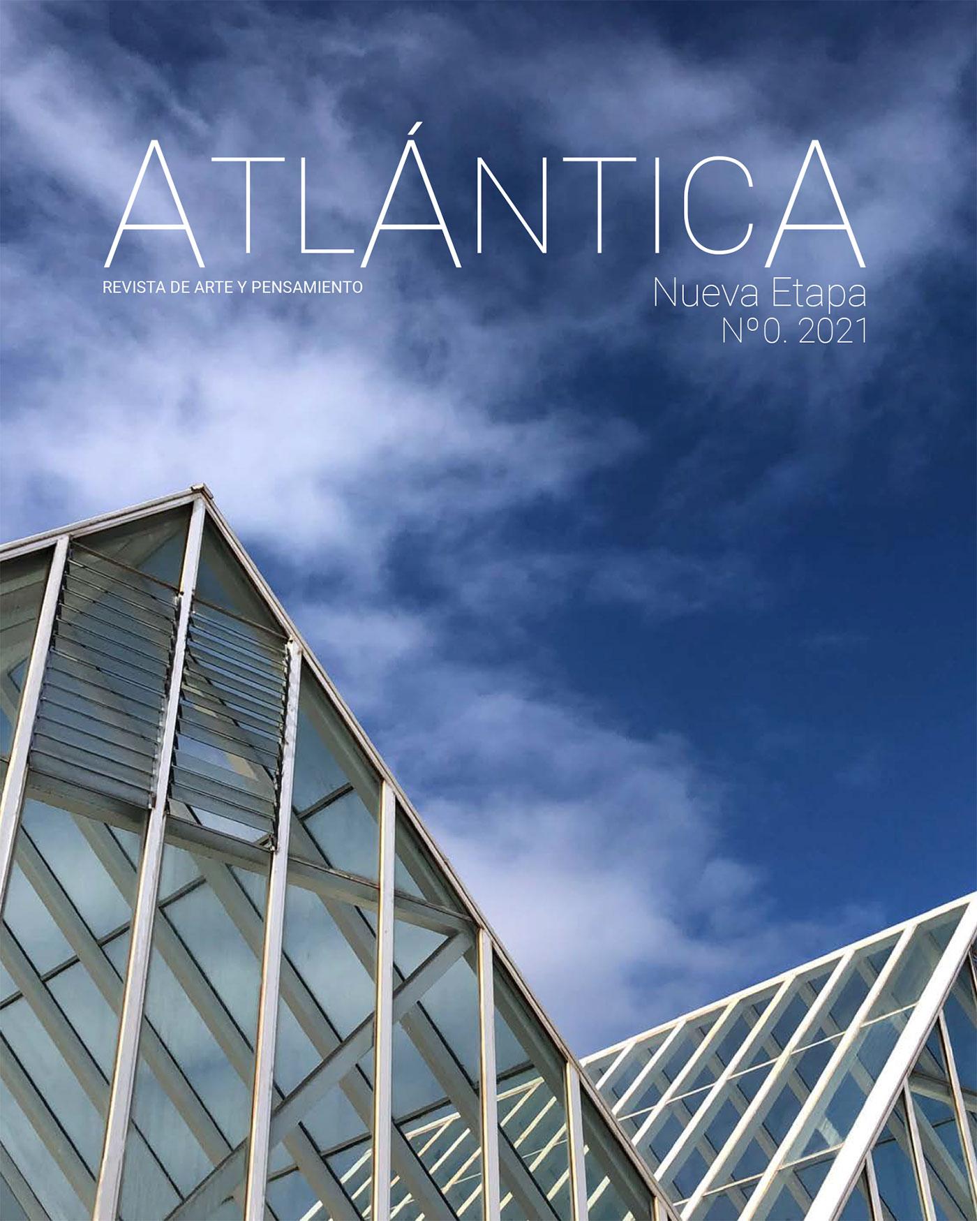 Portada del Nº0 de la Nueva Etapa de Atlántica. Revista de arte y pensamiento