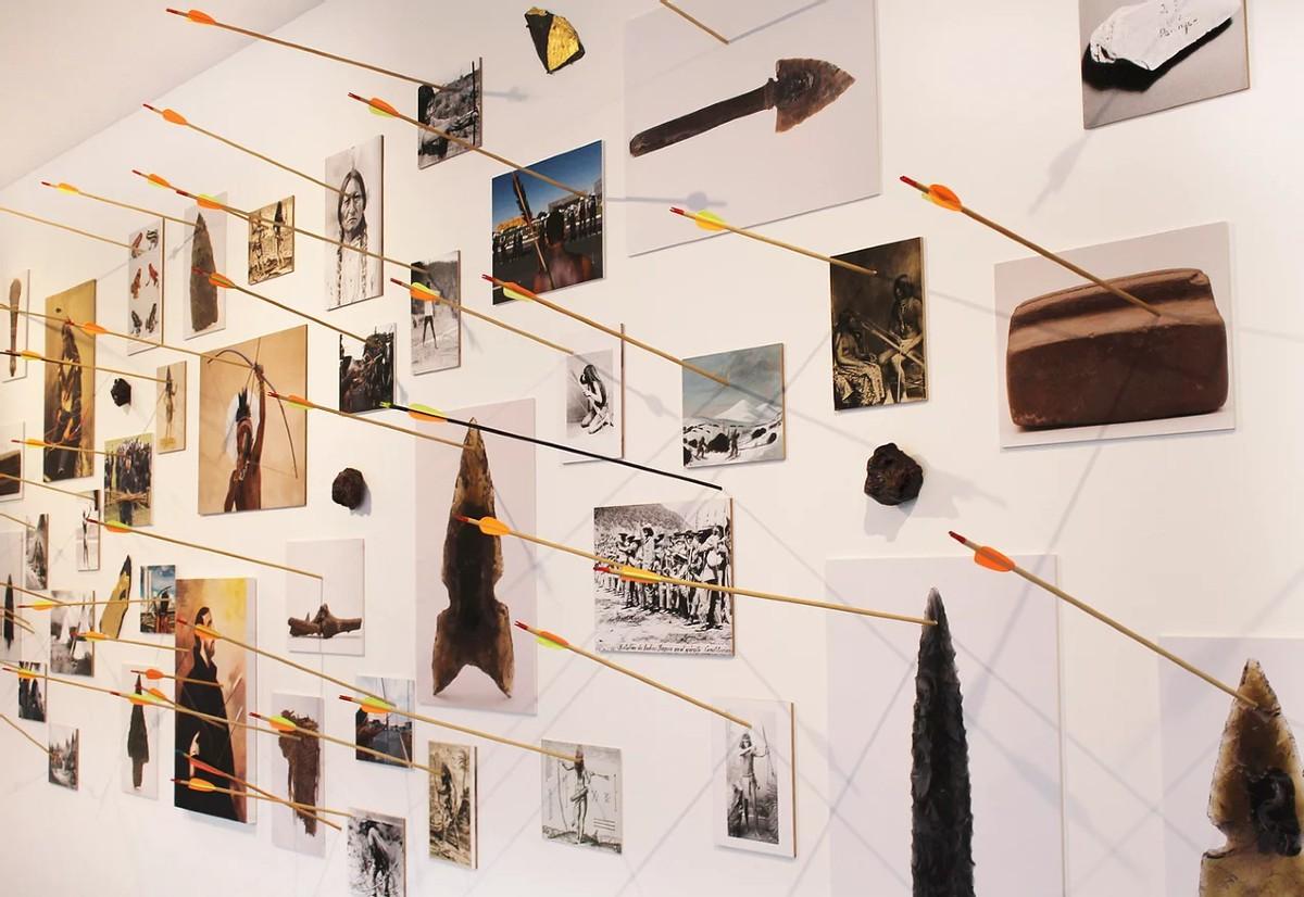 El oficio del adversario, 2017. Morelos León de Celis. Detalle en el MACG, Museo de Arte Contemporáneo Carrillo Gil, Ciudad de México. Cortesía del artista.