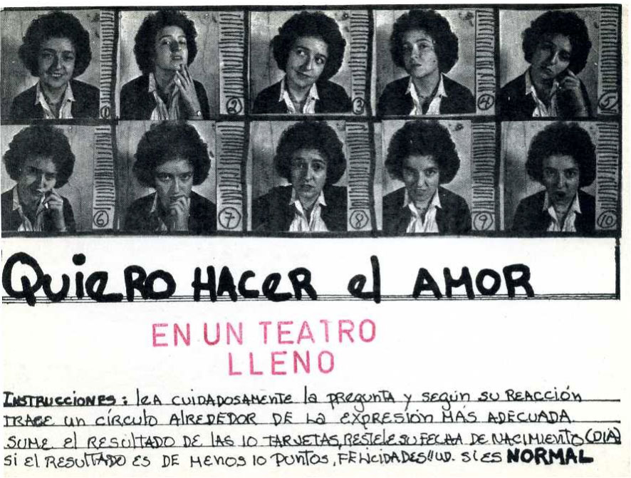 Mónica Mayer, Lo normal, 1978. MALBA, Museo de Arte Latinoamericano de Buenos Aires