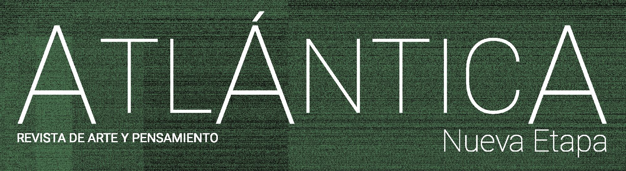 Logotipo de Atlántica. Revista de Arte y Pensamiento. Nueva Etapa
