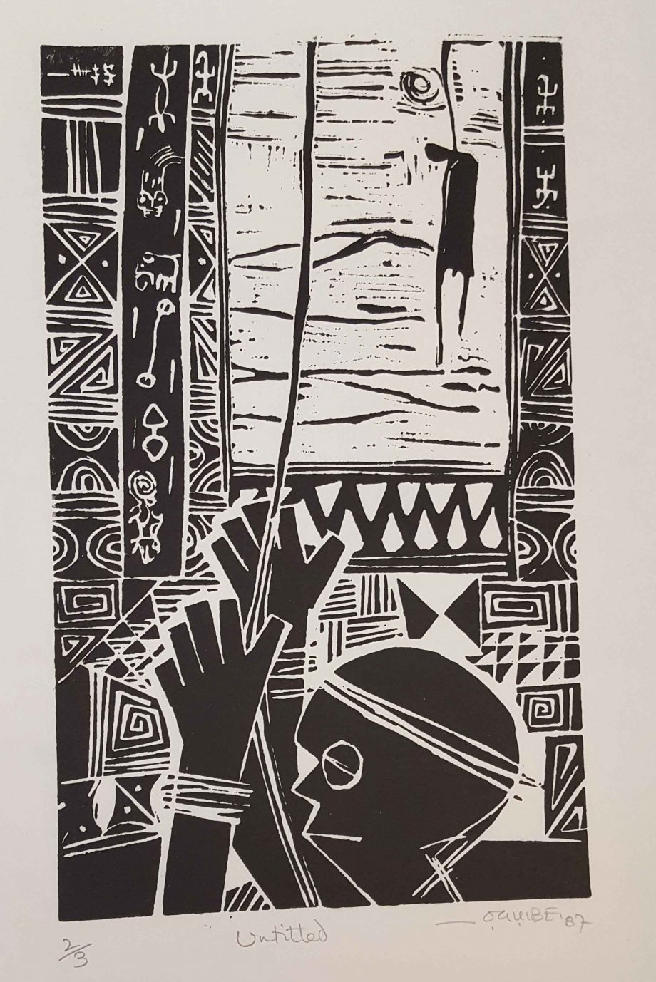 Untitled, 1987. Woodcut