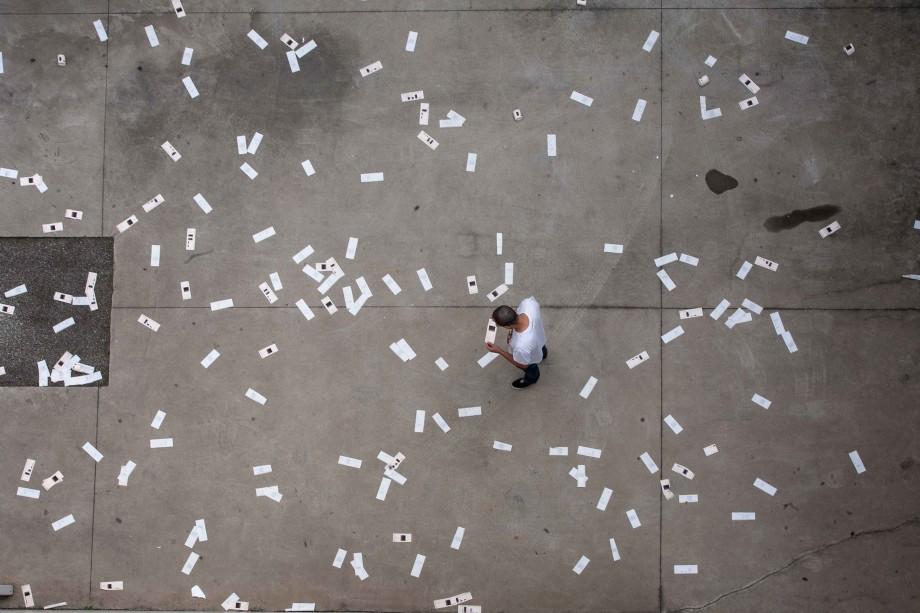 Jose Carlos Martinat, SRE-Open Data- SP, Media Mixta, Dimensiones Variables, Vista de instalación, Fotografía Jose Carlos Martinat.