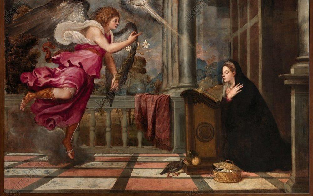 Tiziano Vecellio, Annunciazione, 1535, 166 x 266 cm, Scuola Grande di San Rocco, Venezia