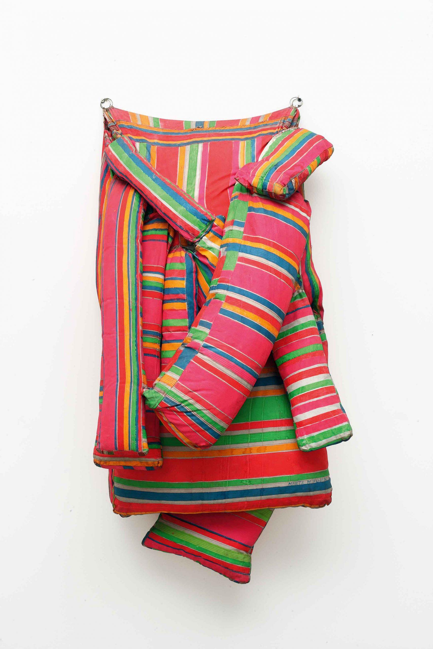 Marta Minujín (Argentine, b. 1943), Colchón (Mattress), 1964/1985. Acrílico sobre tela, gomaespuma (reconstruida). 59 1/16 × 34 1/4 × 21 1/4 in. (150 × 87 × 54 cm). Colección de Jorge y Marion Helft.