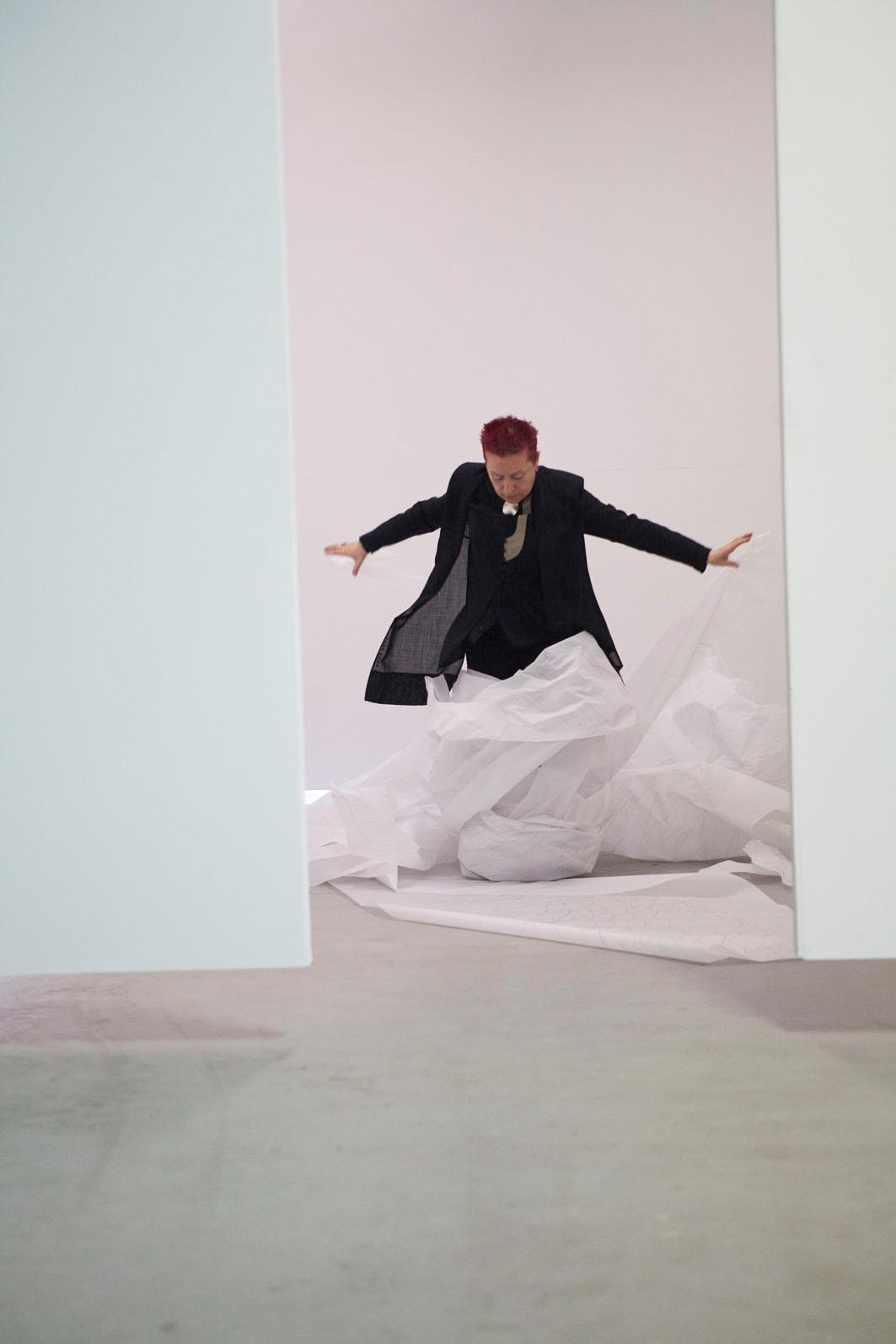 Concha Jerez, Through Self-censorship, performance, Arhem, 2011